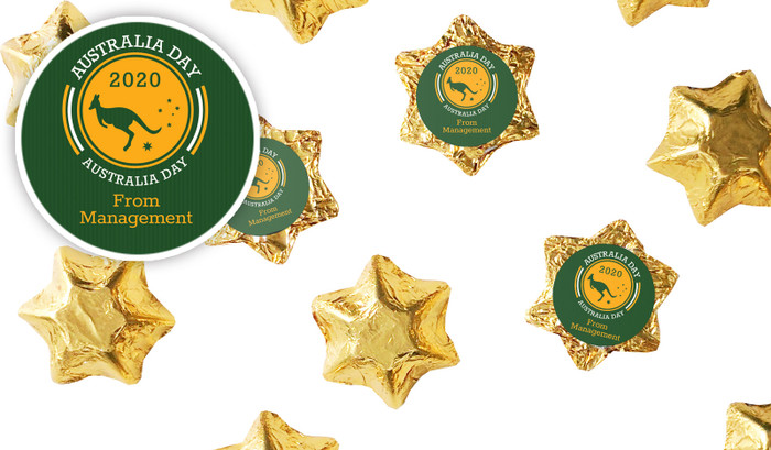 Australia Day Emblem Chocolate Stars