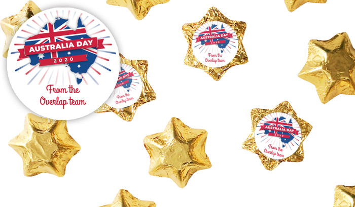 Australian Map Australia Day Chocolate Stars