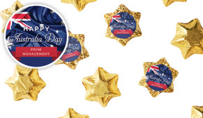 Australian Flag Australia Day Chocolate Stars