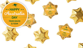 Green & Gold Australia Day Chocolate Stars