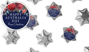 Native Flowers Australia Day Chocolate Stars
