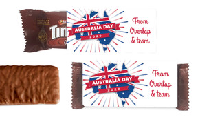 Australian Map Australia Day Individual TimTam TM (Box Of 150)