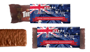 Australian Flag Australia Day Individual TimTam TM (Box Of 150)