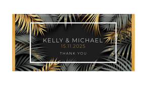Contemporary Palms Personalised Chocolate Bar