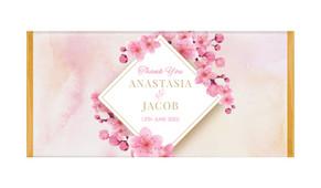 Diamond On Cherry Blossom Personalised Chocolate Bar