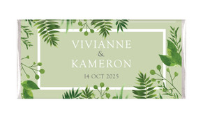 Forest Frame Personalised Chocolate Bar