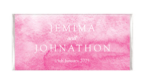 Pink Ombre Personalised Chocolate Bar