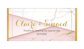 Pink And Marble Personalised Chocolate Bar