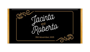 Retro Ornaments Personalised Chocolate Bar