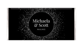 Silver Star Confetti Personalised Chocolate Bar