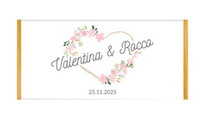 Heart Frame Personalised Chocolate Bar