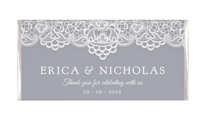 Vintage Lace Personalised Chocolate Bar