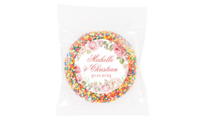Classic Rose Border Wedding Theme Personalised Giant Freckle