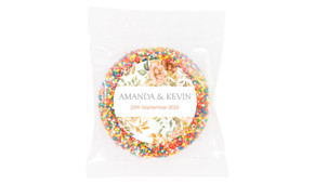 Peach And Bronze Floral Wedding Theme Personalised Giant Freckle
