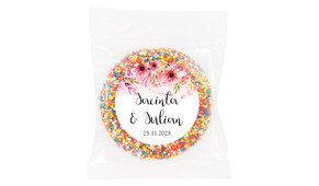 Cascading Flowers Wedding Theme Personalised Giant Freckle