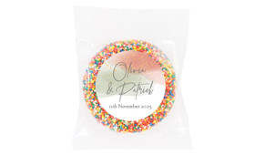 Sage And Blush Confetti Wedding Theme Personalised Giant Freckle