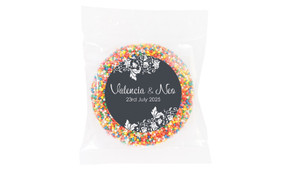 Classic Grey Floral Wedding Theme Personalised Giant Freckle