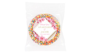 Diamond On Cherry Blossom Wedding Theme Personalised Giant Freckle