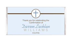 Cross On Blue Confirmation Personalised Chocolates