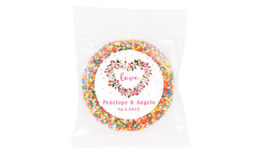 Heart Shaped Floral Wedding Theme Personalised Giant Freckle