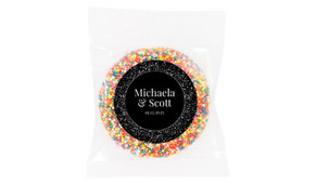 Silver Star Confetti Wedding Theme Personalised Giant Freckle