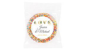 L-O-V-E Flowers Wedding Theme Personalised Giant Freckle