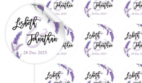 Lavender Large Circle Stickers - Set Of 12