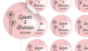 Floating Dandelion Large Circle Stickers - Set Of 12