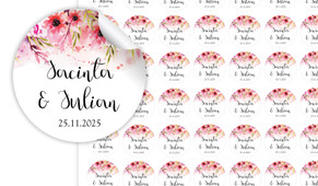 Cascading Flowers Small Circle Stickers - Set Of 70