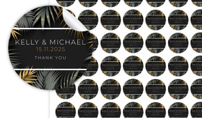 Contemporary Palms Small Circle Stickers - Set Of 70