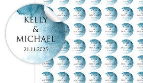 Blue Shade Small Circle Stickers - Set Of 70