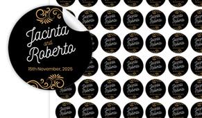 Retro Ornaments Small Circle Stickers - Set Of 70