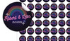 Neon Rainbow Small Circle Stickers - Set Of 70