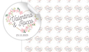 Heart Frame Small Circle Stickers - Set Of 70