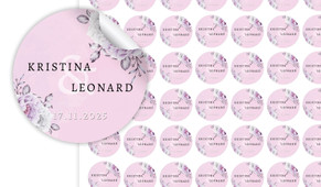 Vintage Pink Small Circle Stickers - Set Of 70
