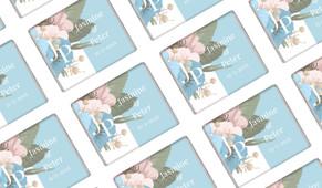 Spring Monogram Wedding Personalised Mini Chocolates