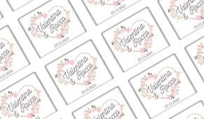 Heart Frame Wedding Personalised Mini Chocolates