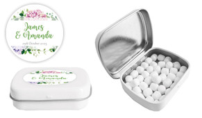 Hydrangea Wedding Personalised Mint Tin