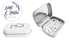 Lavender Wedding Personalised Mint Tin