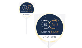 Diamond Ring Wedding Personalised Lollipops