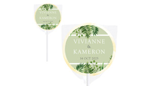 Forest Frame Wedding Personalised Lollipops
