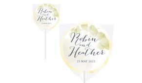 Misty Eucalypt Wedding Personalised Lollipops