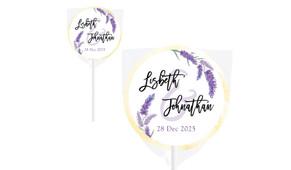 Lavender Wedding Personalised Lollipops