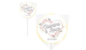 Heart Frame Wedding Personalised Lollipops