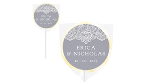 Vintage Lace Wedding Personalised Lollipops