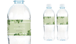 Forest Frame Wedding Water Bottle Stickers (Set of 5)