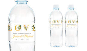 L-O-V-E Letters Wedding Water Bottle Stickers (Set of 5)