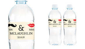 Mr And Mrs Wedding Water Bottle Stickers (Set of 5)