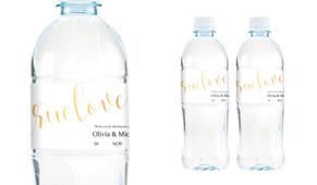 True Love Wedding Water Bottle Stickers (Set of 5)