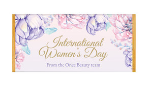 Lilac International Womens Day Personalised Chocolate Bar